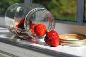 Strawberries-in-glass