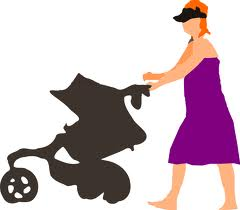 Woman-with-stroller