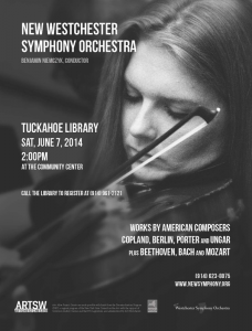 Free Concert: New Westchester Symphony Orchestra at Tuckahoe Public Library