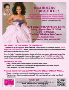 """What Makes You Feel Beautiful?""  art exhibit/artist talk"
