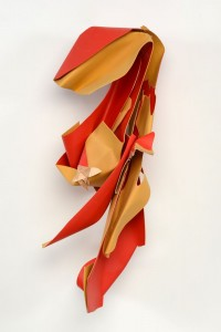 Manspeizer.Passionate Red Bent wood_acrylic 37x15x12 2014#3DF2(small)