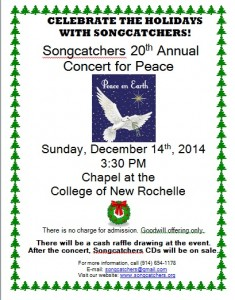 Songcatchers 20th Annual Concert for Peace