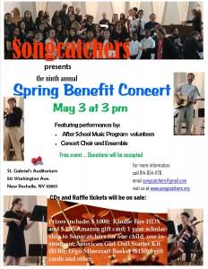 2015 Spring Benefit Concert Flyer