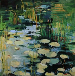 Lilies and Cattails Oil on Canvas by Marcia Brandwein 2015 Photo Credit Tom Arter 2015
