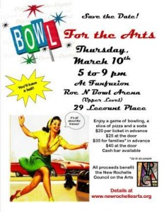 Save the Date Bowling flyer large