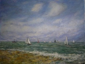 White Sails in a Good Breese 44x56 (smal)l