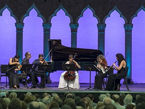 Out of Thin Air: Real and Surreal, Music from Copland House with Carolina Eyck, thereminist in the Venetian Theater at Caramoor in Katonah New York on July 12, 2015. 