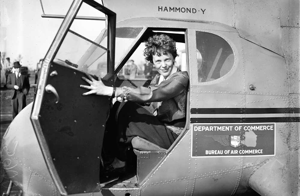 Harrison-Public-Library_Amelia-Earhart_photo-source-Creative-Commons