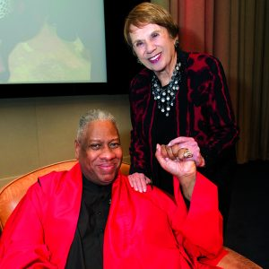 André Leon Talley and Betty Himmel (photo credit: Margaret Fox)