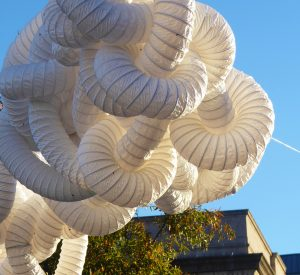 Outdoor sculpture project from Arts Alive grantee Gooseberry Studios
