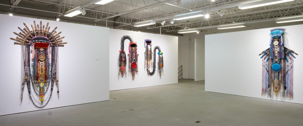 "Gallery view of Anne Samat's ""Greatest Love"" exhibition at Hudson Valley MOCA (photo credit: Maksim Akelin)"