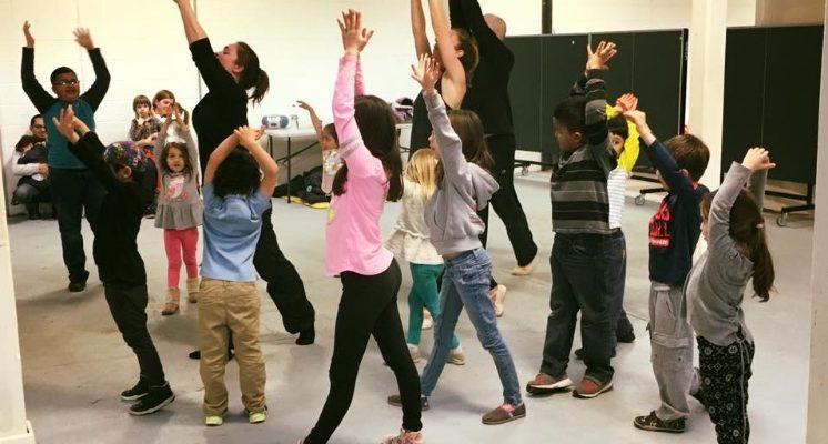 A dance workshop at Westchester Children's Museum (photo courtesy of Westchester Children's Museum)