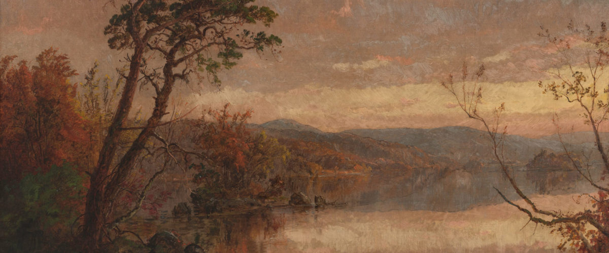 """The Narrows at Lake George (1888)"" by Jasper Francis Cropsey. Collection of the Hudson River Museum, Gift of Mr. and Mrs. Frank E. Wheeler, 1924 (photo credit: Steve Paneccasio)"