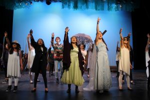 "Summer campers at White Plains Performing Arts Center performed Disney's ""Frozen Jr."" (photo credit: Kathleen Davisson)"