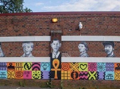 Mural at Nepperhan Community Center (photo courtesy of Katori Walker)