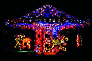 Pumpkin carousel installation at The Great Jack O'Lantern Blaze (photo credit: Tom Nycz for Historic Hudson Valley)
