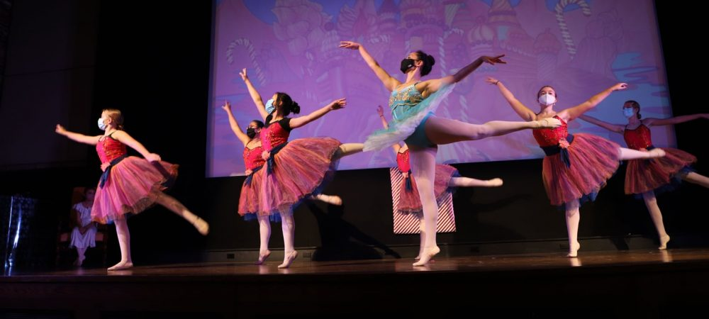 "Dress rehearsal with Ballet Arts for Picture House Regional Film Center's screening of ""The Nutcracker"", 12/13 (photo courtesy of Picture House Regional Film Center)"