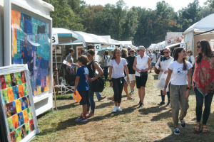 Visitors at Armonk Outdoor Art Show (photo courtesy of Armonk Outdoor Art Show)